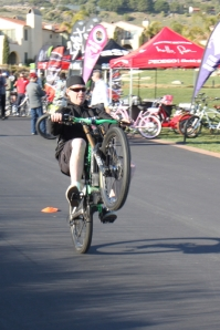 Chris was the wheelie king on the same Kranked Kustoms bike that I made a couple speed runs on.
