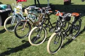 Electra had 6 of the Townie Go E-bikes for the crowd to try out.