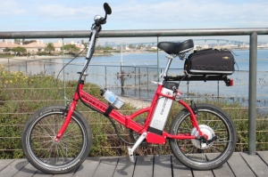 This Busettii Folding MINI has been Steve's folding E-bike of choice for two years.