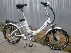 The EZ Pedaler F300 is a little bit larger than the other folding E-bikes listed here.