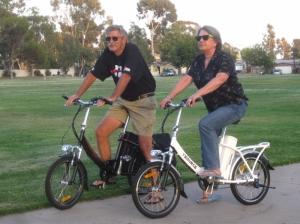 Fun to ride, yet no longer available, this pair of V-Source E-bikes treated us well during the test rides.